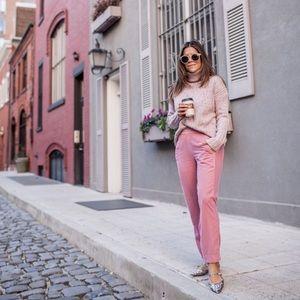 J. Crew Easy Velvet Pants In Pink